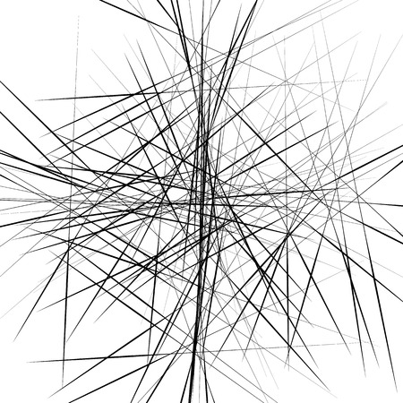 irregular: Random, scattered irregular lines abstract uncolored pattern