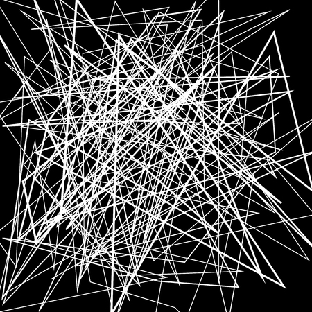 irregular: Irregular, random chaotic lines. Abstract monochrome illustration.