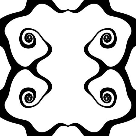 psychic: Abstract inkblot pattern. Monochrome freeform pattern. (Repeatable)