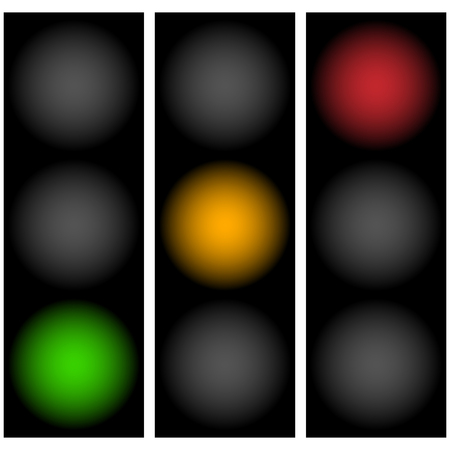 trafficlight: Traffic lights, traffic lamps, semaphors. Simple illustration.