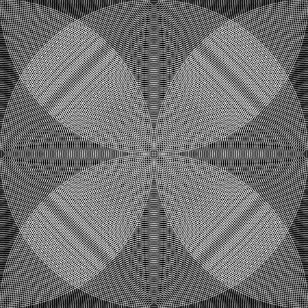 eyestrain: Overlapping, intersecting circles. Moire effect. Monochrome element.