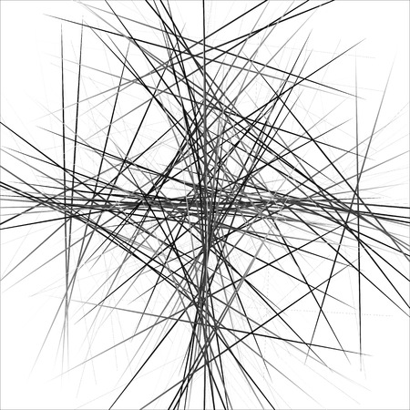 scattered: Random, scattered irregular lines abstract uncolored pattern