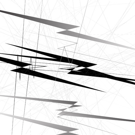 grayscale: Abstract geometric illustration. Monochrome geometric shapes. Grayscale. Illustration
