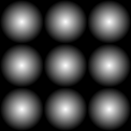 fading: Simple seamless pattern with fading circles. Monochrome background.