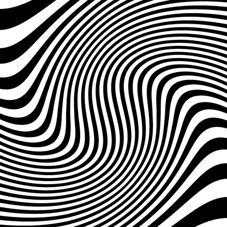 eyestrain: Lines pattern with distortion. Abstract geometric illustration.