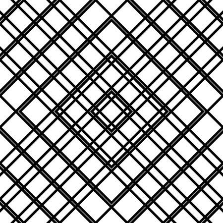 reticular: Grid, mesh seamless geometric pattern. Monochrome texture. Vector illustration Illustration