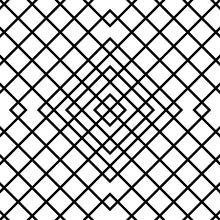grillage: Grid, mesh seamless geometric pattern. Monochrome texture. Vector illustration Illustration