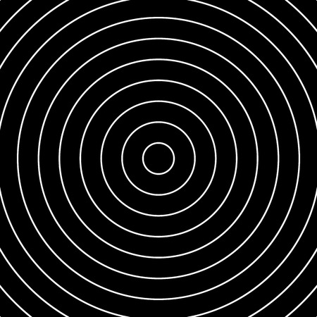concentric: Concentric circles pattern. Abstract monochrome-geometric illustration. Illustration