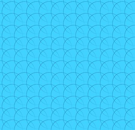 interlocking: Repeatable pattern w interlocking circles, rings. Regular monochrome seamless geometric pattern.