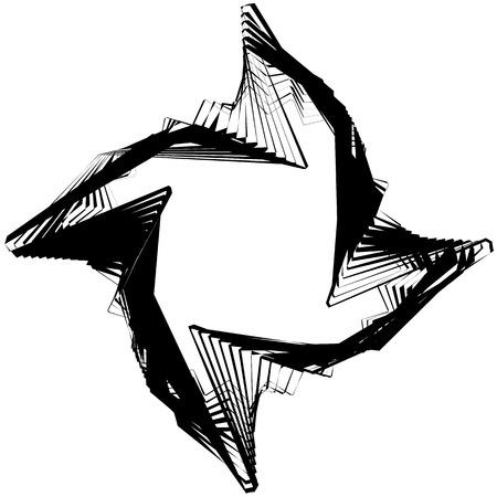 amorphous: Abstract circular element. Monochrome geometric illustration in irregular, asymmetric fashion.