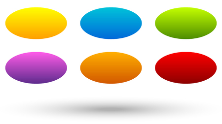 baner: Set of 6 colorful, vivid button, banner backgrounds with blank space for your message. Colorful, bright tags, labels. Abstract design elements