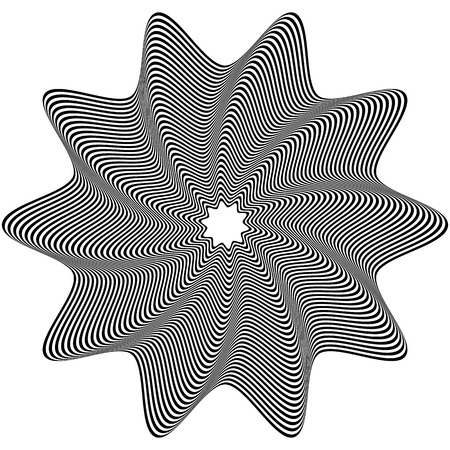 rotating: Concentric, rotating spiral element. Vector illustration.
