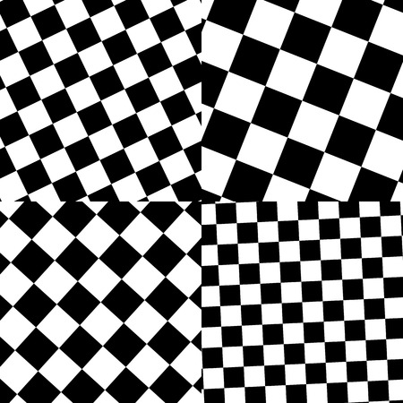 blackwhite: Set of checkered  black-white patterns Illustration