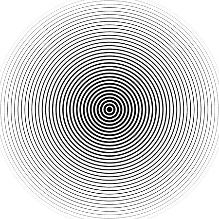 Concentric circles pattern. Abstract monochrome-geometric illustration. Stock Illustratie