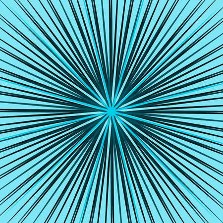 intersect: Starburst, sunburst element. Radial, radiating lines intersect at center. Abstract monochrome illustration