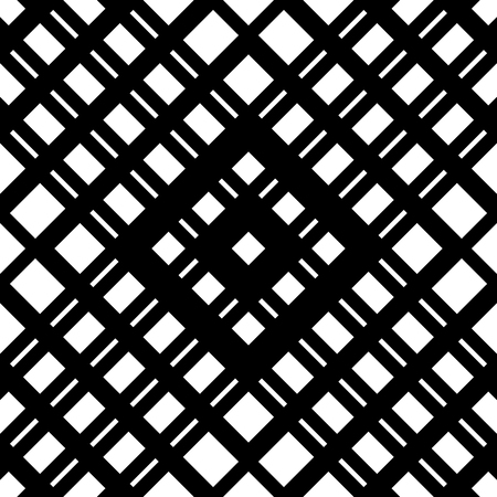 reticular: Grid, mesh seamless geometric pattern. Monochrome texture. Vector illustration Illustration