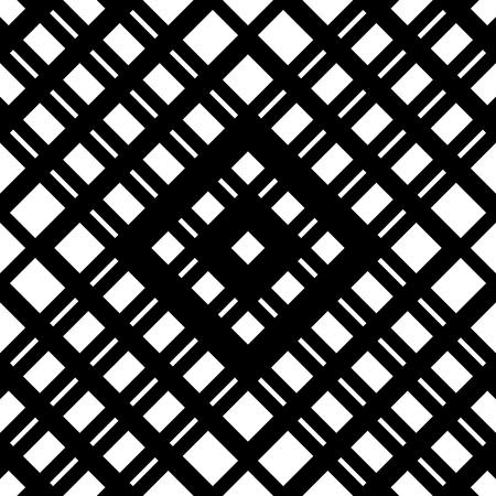 Grid, mesh seamless geometric pattern. Monochrome texture. Vector illustration Illustration