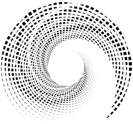 dizziness: Inward spiral of rectangles. abstract geometric design element.