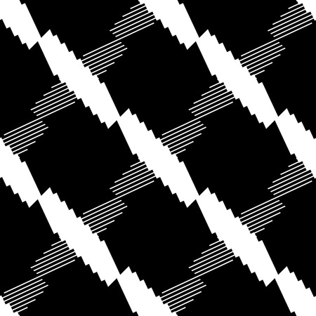 Seamlessly repeatable geometric pattern - Abstract monochrome background, texture
