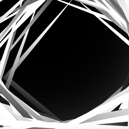 intersecting: Geometric overlapping - intersecting shapes. Abstract grayscale illustration. Vector Illustration