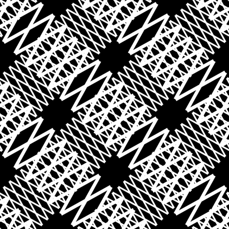 tense: Seamlessly repeatable geometric pattern - Abstract monochrome background, texture