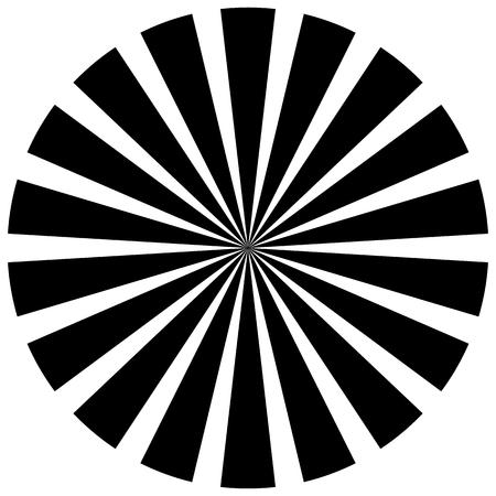 beams: Burst, beams, rays - Starburst shape on white. Illustration