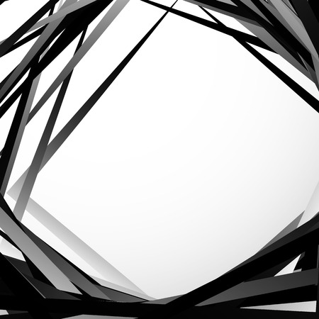 grayscale: Geometric overlapping - intersecting shapes. Abstract grayscale illustration. Vector Illustration