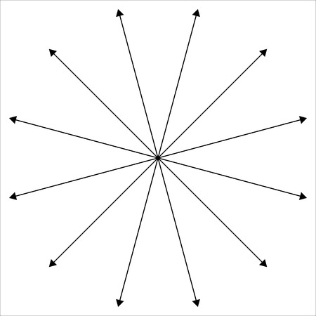 intersecting: Radial - radiating lines outwards from center point