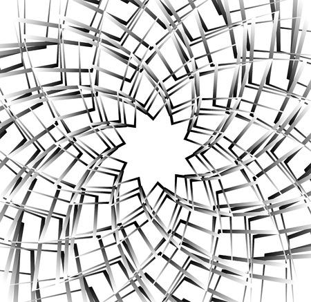 Concentric, rotating spiral element. Vector illustration.