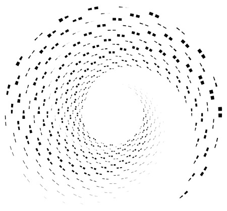 hypnotism: Inward spiral of rectangles. abstract geometric design element.