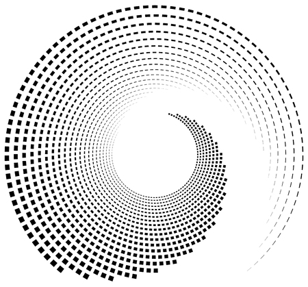 mesmerize: Inward spiral of rectangles. abstract geometric design element.