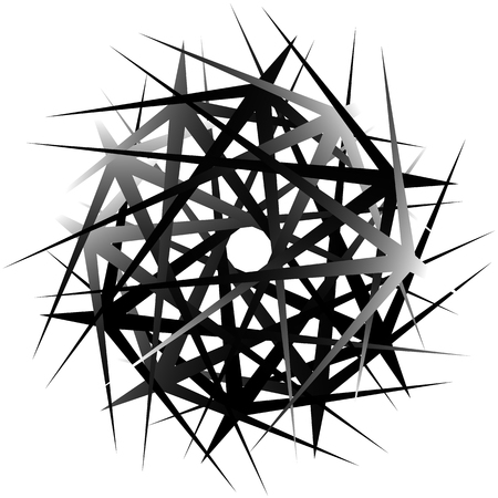 abstractionism: Geometric rotating form. Editable vector illustration.