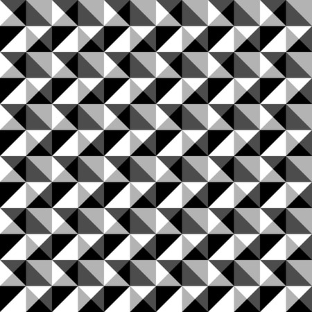 grayscale background: Seamlessly repeatable black and white mosaic pattern. Tessellation, geometric grayscale background Illustration