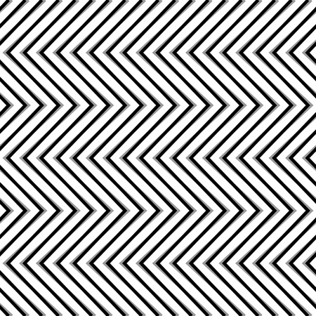 serrated: Zigzag, corrugated, serrated lines. Dynamic, irregular stripes. Geometric repeatable abstract monochrome pattern