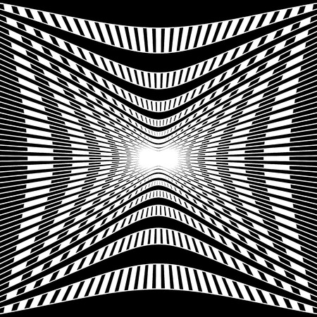 tweak: Grid, mesh pattern with distortion. Abstract geometric pattern. Illustration