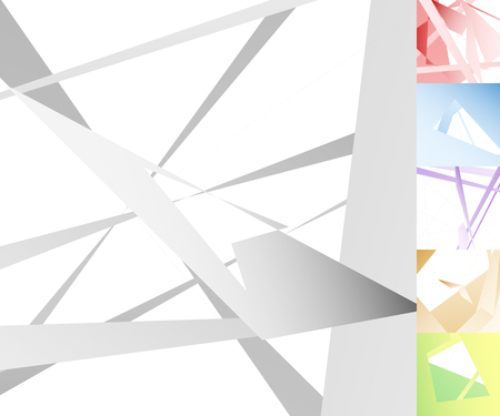 livid: Edgy, angular geometric art in 6 colors. Illustration