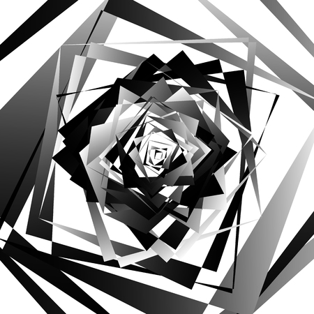 ordered: Abstract geometric art with edgy, angular shapes. Randomly ordered elements.