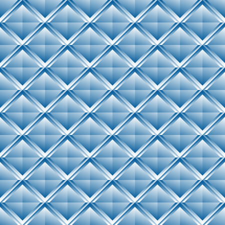 revetment: Repeatable pattern with crystal like structure. Mosaic of studs, shaded squares