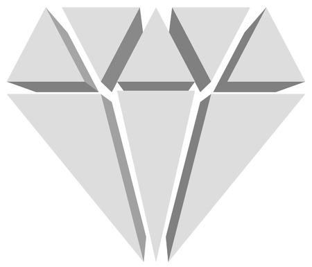 bijou: Simple diamond, jewelry sign, symbol. Precious stone, ruby icon, illustration. Expensive jewel, jewel, bijou concepts.