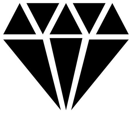 bijoux: Simple diamond, jewelry sign, symbol. Precious stone, ruby icon, illustration. Expensive jewel, jewel, bijou concepts.