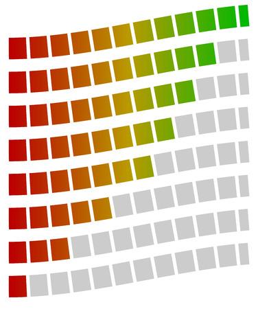 metre: Loading bars, progress, strength indicators, generic meters. Spectrum fill.