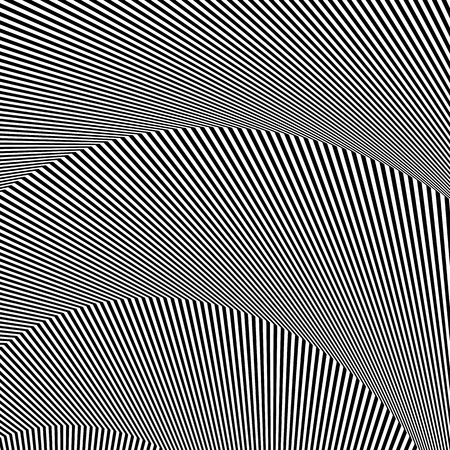 deceptive: Wavy, zigzag lines, lines with distortion, crease. Monochrome pattern
