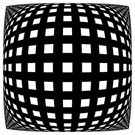 Grid, mesh pattern with distortion. Abstract geometric pattern. Ilustração