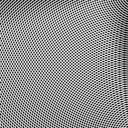 deform: Grid, mesh of lines with dynamic distortion effect. Geometric pattern element. Illustration