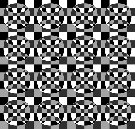 grayscale: Grayscale, monochrome mosaic texture, seamlessly repeatable pattern. Illustration