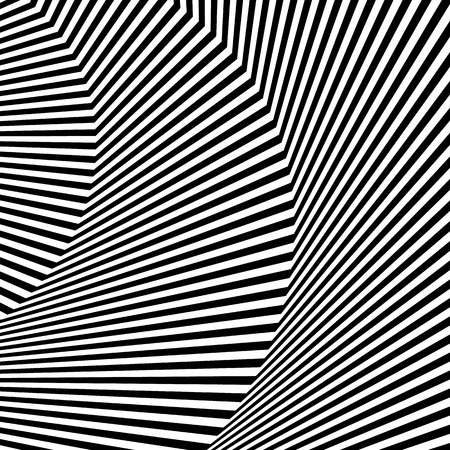 Wavy, zigzag lines, lines with distortion, crease. Monochrome pattern