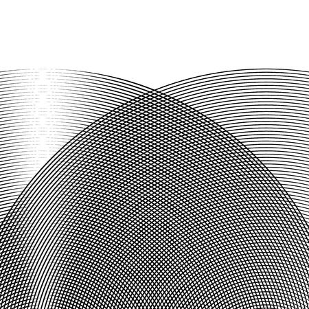 Grid, mesh of lines with dynamic distortion effect. Geometric pattern element.