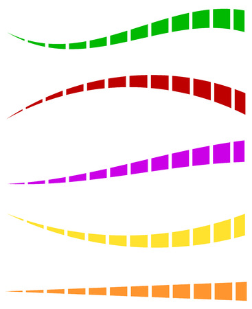 dashed: Set of colorful dashed lines in different directions