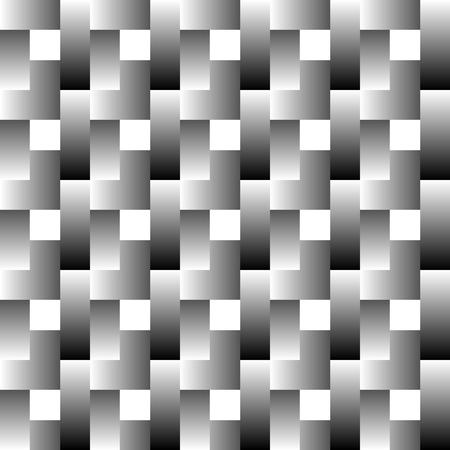 greyscale: Overlapping rectangles seamless pattern. Lamella, mosaic greyscale monochrome pattern Illustration