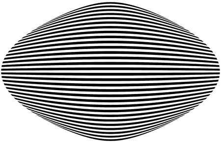 deformation: Lines with deformation effect. Abstract uncolored, monochrome illustration.
